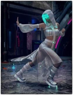 dForce CB Haze Alpha Clothing Set for Genesis 8 Females