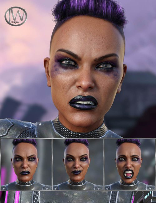 Cyber Future - Expressions for Genesis 8 Female and Millawa 8