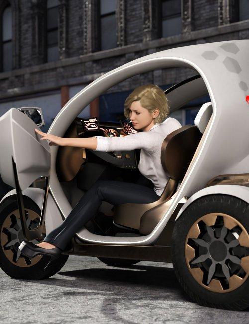 Mini Car Nino Poses for Genesis 3 and 8 Female