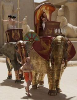 Egyptian Elephant Warrior for African Elephant