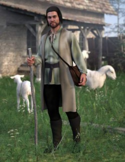 dForce Medieval Peasant for Genesis 8 Males
