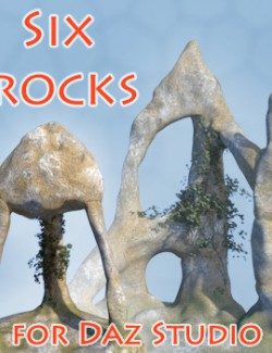 Six rocks for Daz Studio