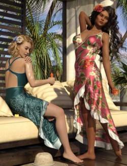 dForce Floral Fiesta Outfit for Genesis 8 Females