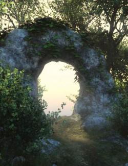 Forest Path Vignette