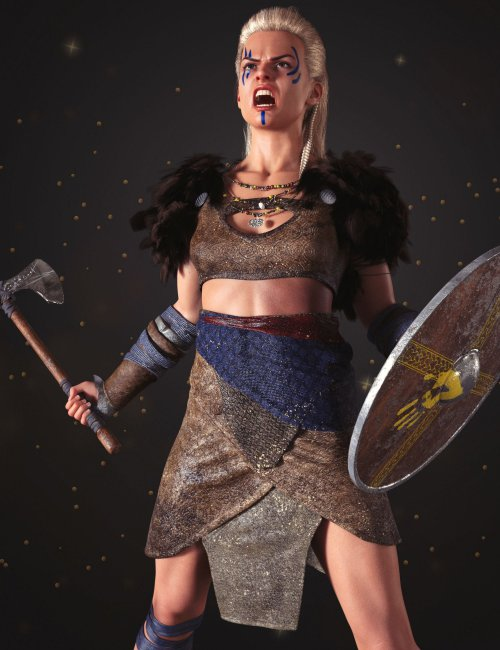 dForce Frida Viking Outfit for Genesis 8 Female