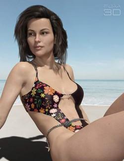 Elegant Chain Swimsuit for Genesis 8 Females