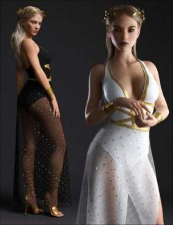 dForce Trojan Princess Outfit Set for Genesis 8 Females