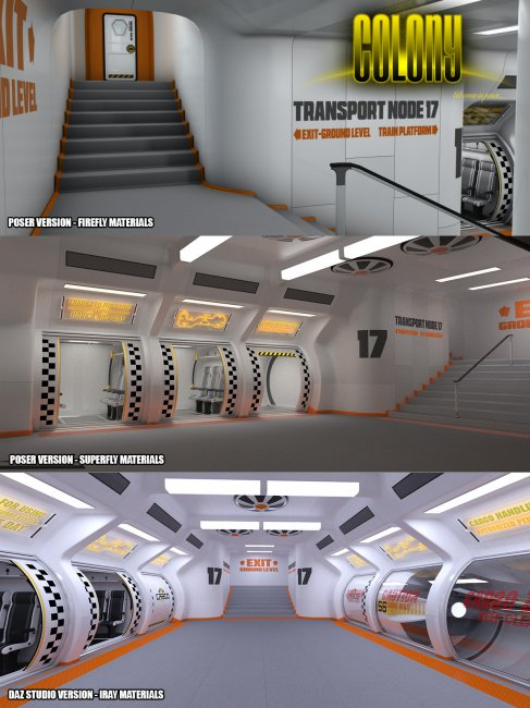 Colony Subway for Poser and DS