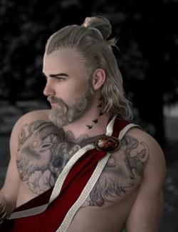 Herodius Hair and Beard for Genesis 8 Males