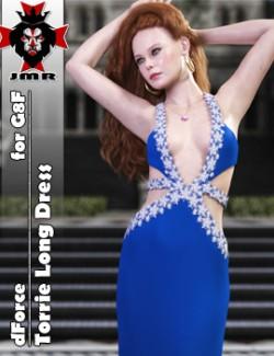 JMR dForce Torrie Long Dress for G8F
