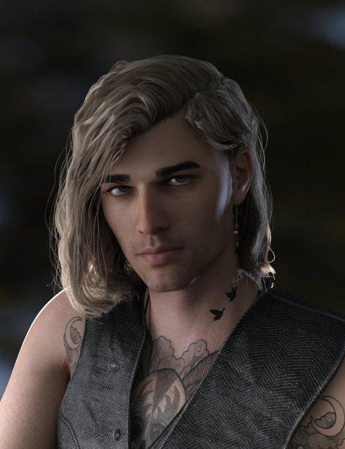 Hyansel King Hair for Genesis 8