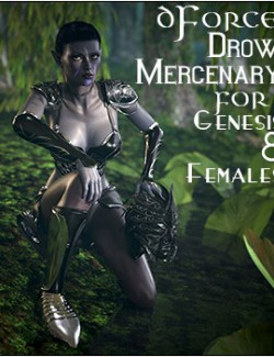dForce Drow Mercenary for Genesis 8 Females