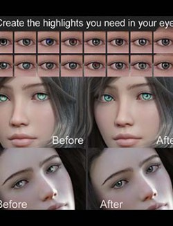 Set for Genesis 8 eye reflections