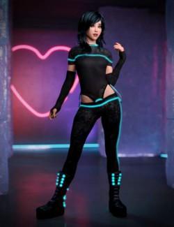 Cadmium Outfit for Genesis 8 Females