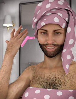 Lush Beard and Body Hair for Genesis 8 Female