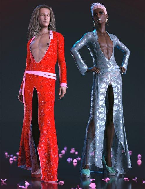 dForce Evening Dress Outfit Texture Addon