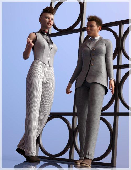 dForce Victorine Suit for Genesis 8 Females