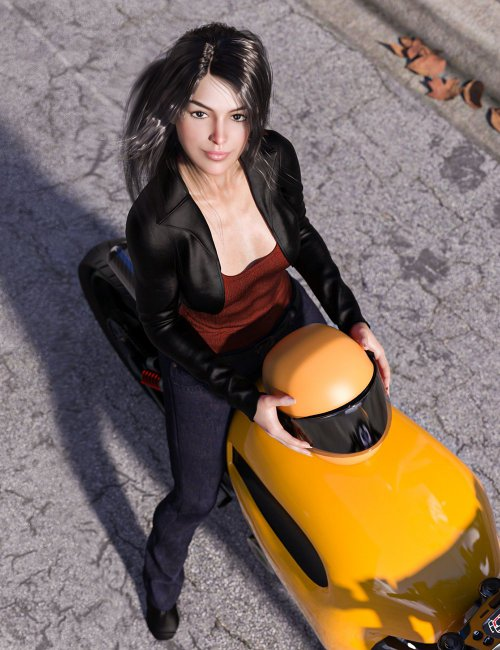 Retro-Futuristic Motorcycle Poses for Genesis 3 and 8