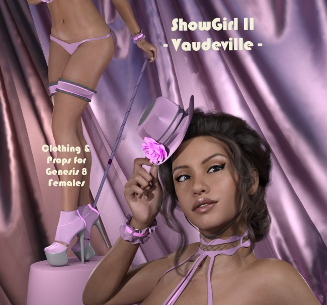 ShowGirl II - Vaudeville: Clothing and Props for Genesis 8 Females
