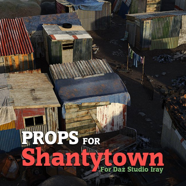 Shantytown Props for DS Iray