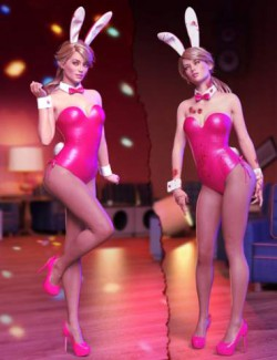 Bunny's Nightmare Outfit and Poses for Genesis 8 Females