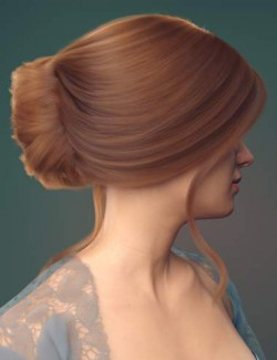 dForce French Twist Updo for Genesis 8 Females