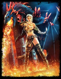 dForce Mystic Fire Outfit for Genesis 8 Female(s)
