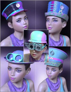 Neon Steam Punk Hats for Genesis 8