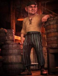 dForce Bilge Salt Outfit for Genesis 8 Male(s)