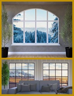 WinterScapes Backdrops Volume 2