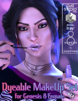 Dyeable MakeUp Set for Genesis 8 Female