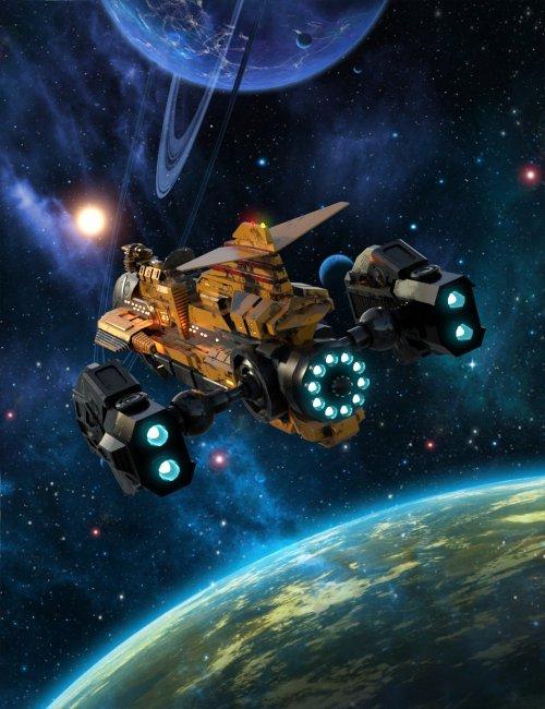 The Hammerhead X7A Explorer Starship