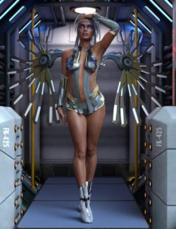 Cyberpunked Poses For Genesis 8 Female