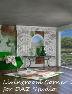 Livingroom Corner 1 for DAZ Studio