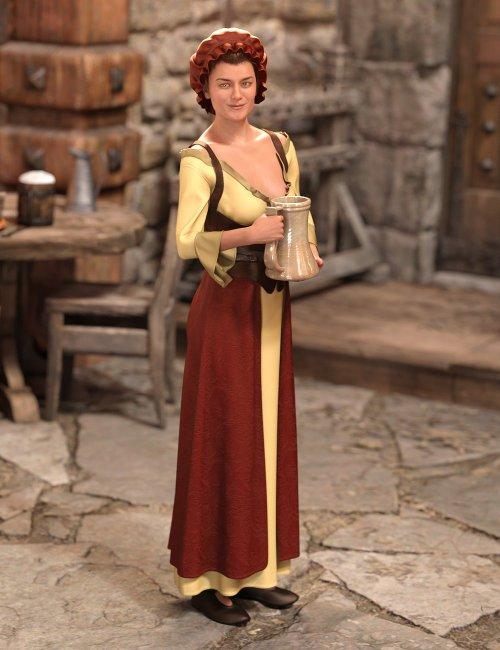 dForce Medieval Barmaid for Genesis 8 Female(s)