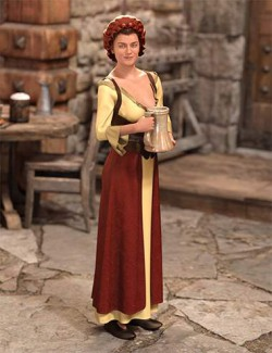 dForce Medieval Barmaid for Genesis 8 Female(s)