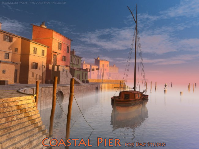 Coastal Pier for Daz Studio