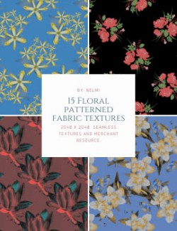 15 Floral Patterned Fabric Textures