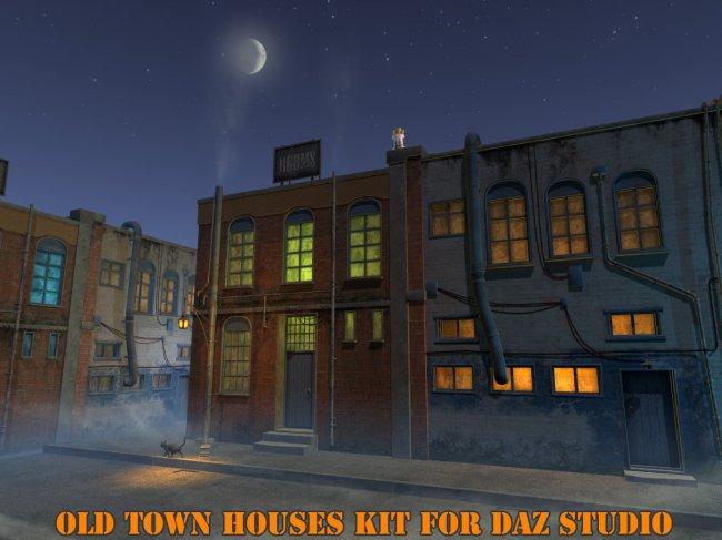 Old town houses kit for Daz Studio