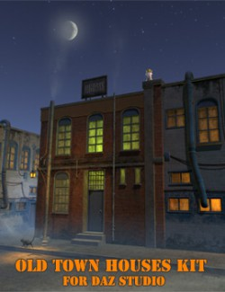 Old town houses kit for Daz Studio