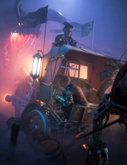 Steampunk Ostrich Carriage