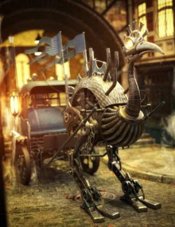 Steam & Punk for the Steampunk Ostrich and Carriage