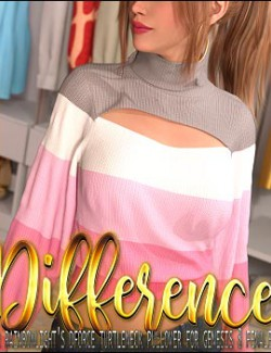 Difference for dForce Turtleneck Pullover for Genesis 8 Female(s)