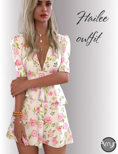dForce Hailee Dress for Genesis 8 Female(s)