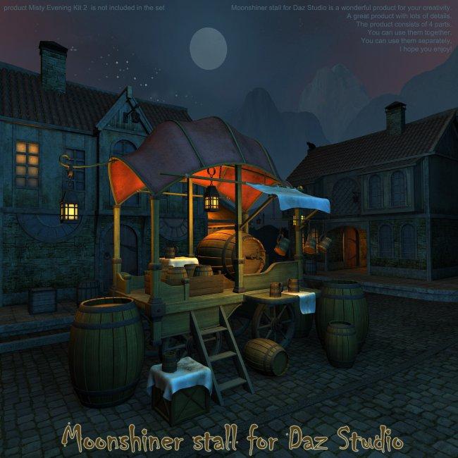 Moonshiner stall for Daz Studio