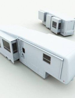 Retired Doctor Fifth Wheel Trailer for Poser