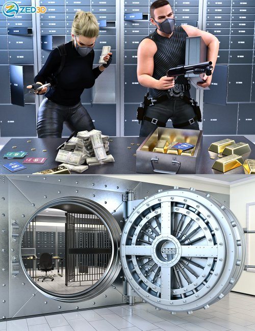Z Bank Vault Robbery and Poses