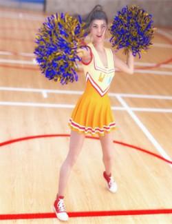 SC 25 Cheerleaders Poses for Genesis 8 Females