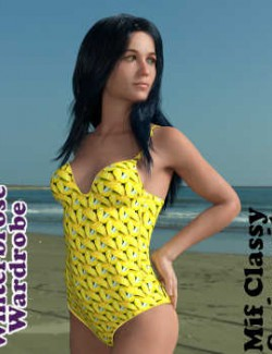 Winterbrose Wardrobe, Key West Kolors 3333 Collection - Mif Classy Swimsuit G8F