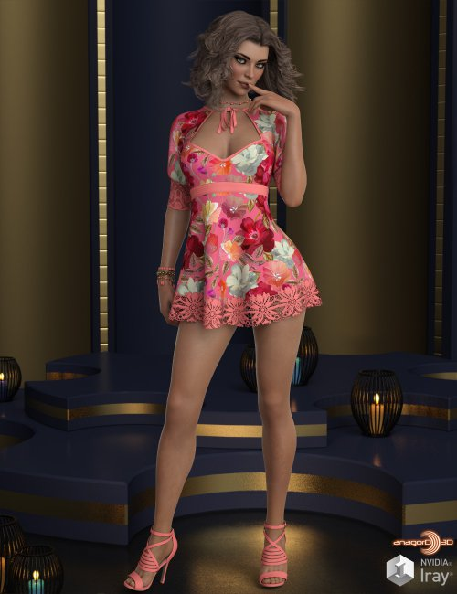 VERSUS - dForce Lexi Holiday Outfit for Genesis 8 Females